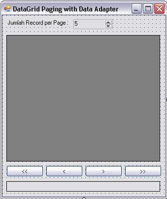 Bagaimana caranya melakukan paging record pada DataGrid